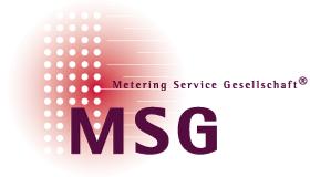 Metering Service Gesellschaft mbH (MSG) Dienstleister Energieversorger